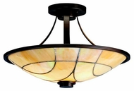 Kichler 69125 Spyro Art Glass Semi-Flush Ceiling Light