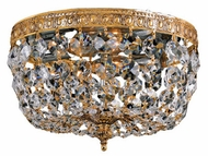 Crystorama 710 Myriad 10 inch 2-lite flush-mount ceiling light in Olde Brass