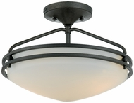 Quoizel OZ1713IN Ozark Contemporary Semi Flush Ceiling Light - 13 inches