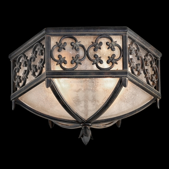 Fine Art Lamps 324882 Costa Del Sol 10 inch outdoor flush mount in Marbella wrought iron