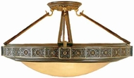 Feiss SF184-PAL Medallion 4 Light Semi Flush Ceiling Fixture