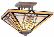 Kichler 69010 Tiffany Art Glass Creations 14 Inch 2 Light Semi Flush Ceiling Fixture