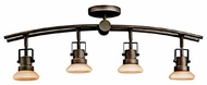 Kichler 7755OZ Structures Contemporary 4-Lamp Directional Rail Light in Olde Bronze