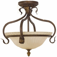 Feiss SF215-ATS Sonoma Valley 3-light 17 inch Aged Tortoise Shell Semi Flush Ceiling Light