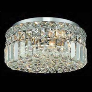 Worldwide 33505 Worldwide 12  4-light Crystal Style Semi-Flush Ceiling Light