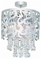 Trans Globe MDN697 Laser Cut Crystal Semi-Flush Ceiling Light
