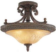 Feiss SF152-PAL Casbah 3-light 19 inch Traditional Semi Flush Ceiling Light in Palladio