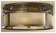 Feiss for Less FM337ASTB Justine Flush Mount Ceiling Light