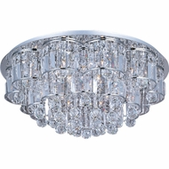 ET2 E2325820PC Bangle Medium 20-lamp Flush Mount Ceiling Light with Crystal Accent