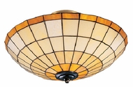 Landmark 219-CA Diamond 3 Light Tiffany Semi Flush Ceiling Fixture