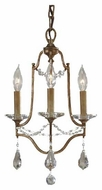 Feiss F26233OBZ Valentina 3-Light Mini Chandelier / Semi-Flush Ceiling Light