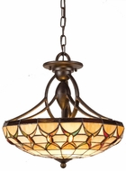 Quoizel TF1041EP Veranda Tiffany Ceiling Light in Espresso