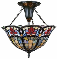 Quoizel TF1796VB Hyacinth Tiffany Ceiling Light Fixture in Vintage Bronze