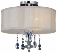 Maxim 24301CLBSPN Montgomery Small 3-light Drum Semi Flush Mount Ceiling Light Fixture