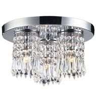ELK 1990-3 Optix 3-Light Crystal Flush-Mount Ceiling Fixture