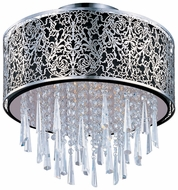 Maxim 22291BKSN Rapture Crystal Contemporary Ceiling Light Fixture with Black Shade