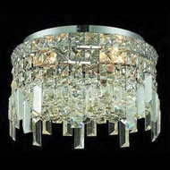 Worldwide 33605 Worldwide 12  4-light Crystal Style Semi-Flush Ceiling Light w/ Accent