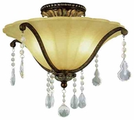 Trans Globe 3963 Crystal Fair Traditional Semi-Flush Ceiling Light