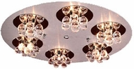 PLC 72135-AL_PC Bolero Contemporary Crystal Flush-Mount Ceiling Light - 19 inches wide