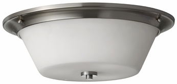 Feiss FM369-BS Spectra Flush Mount 17 Inch Diameter Brushed Steel Ceiling Lighting