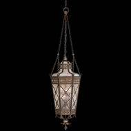Fine Art Lamps 402482 Chateau 59 inch outdoor hanging lantern in solid brass