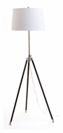 House of Troy TR201-SN Tripod Transitional Satin Nickel Finish Adjustable Floor Lamp