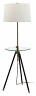 House of Troy TR202-AB Tripod Adjustable 46 to 60 Inch Tall Antique Brass Floor Lamp Lighting With Tray