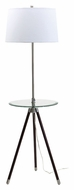 House of Troy TR202-SN Tripod Transitional 46 to 60 Inch Tall Transitional Glass Tray Floor Lamp - Satin Nickel