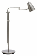 House of Troy C100-SN Cambridge Transitional 36 to 50 Inch Tall Adjustable Floor Lamp - Satin Nickel