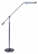 House of Troy FL10-GT Grand Piano Adjustable Height Swing Arm Granite Finish Floor Lamp