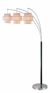 Lite Source LS80293 Olina 3 Light 78 Inch Tall Arc Floor Lamp