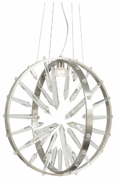 LBL HS645CRSC1A Roxie Contemporary Crystal Hanging Light Fixture