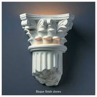 Justice Design 4700 Ambiance Corinthian Column Wall Sconce, Closed Bottom