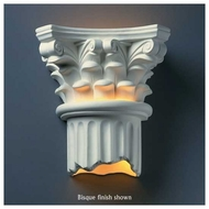 Justice Design 4705 Ambiance Corinthian Column Wall Sconce, Open Bottom