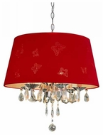 Trans Globe PND610RED Flutterby Pendant Light in Red