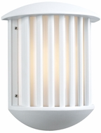 Circa Outdoor Light Wall Fixture in White