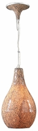 Contessa Pendant Light with Crackle Amber Glass