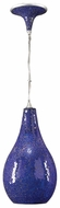 Contessa Pendant Light with Crackle Blue Glass