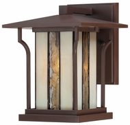 Quoizel Linea Chocolate Bronze Small 9.5 Inch Tall Wall Mounted Lantern