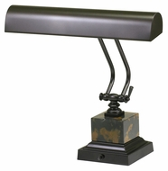 House of Troy P14-280 Mahogany Bronze Finish 12 Inch Tall Piano/Desk Lamp With Black & Tan Marble
