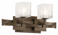 Troy B3582 Jensen 2 Lamp 17 Inch Wide Bathroom Lighting Fixture - Danish Bronze