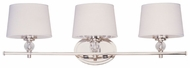 Maxim 12763WTPN Rondo Medium 3-lamp Vanity Lighting for Bathroom