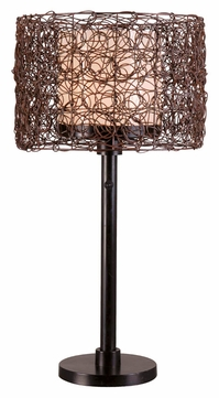 Kenroy Home 32219BRZ Tanglewood 28 Inch Tall Bronze Living Room Table Lamp
