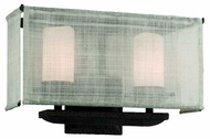 Troy B2202WB Raffia 2-Lamp Vanity Light