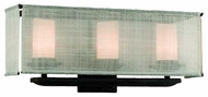 Troy B2203WB Raffia 3-Lamp Vanity Light
