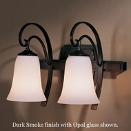 Hubbardton Forge 20-4532 Scroll 2-Light Glass Bell Wall Sconce