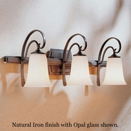 Hubbardton Forge 20-4533 Scroll 3-Light Glass Bell Wall Sconce