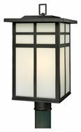 Thomas SL90067 Mission Craftsman Style Outdoor Black Finish Post Light - 20 Inches Tall