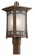 Kichler 49453AGZ Soria 16 Inch Tall Outdoor Aged Bronze Lamp Post Light