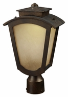 ELK 42243/1 Porter 9 Inch Diameter Traditional Bronze Outdoor Post Lamp